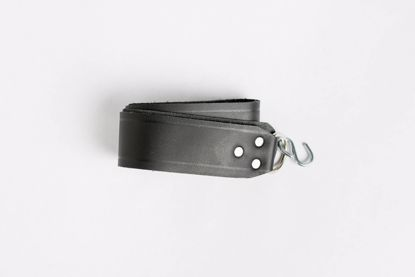 Fox Black Leather Seat Strap with hook Seat Strap