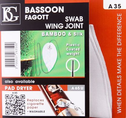 Bassoon Swab For Wing Joint, BG, Bamboo And Silk