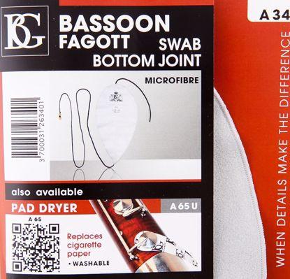 Bassoon Swab For Bottom Joint, BG, Microfiber
